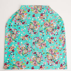 Chickadee Cover All Teal Boho Floral
