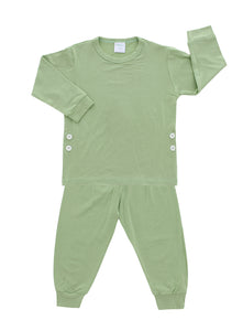 Pajama Set, Pastel Green