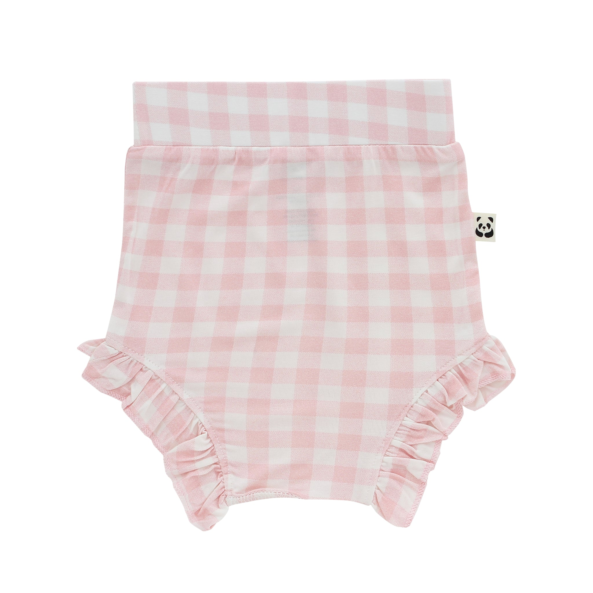 Baby Girl Ruffled Bloomer, Pink Gingham