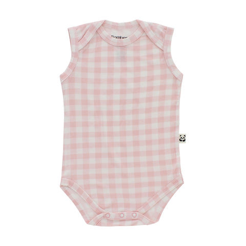 Sleeveless Onesie, Pink Gingham
