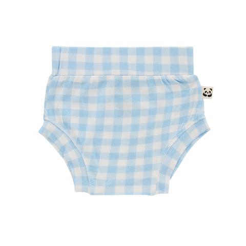 Baby Boy Bloomer, Blue Gingham