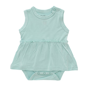 Sleeveless Summer Dress, Eggshell Blue
