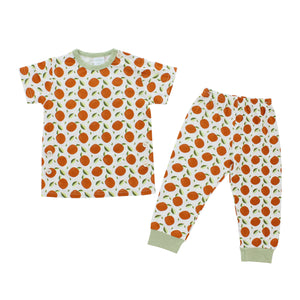 Short Sleeves Pajama Set, Orange