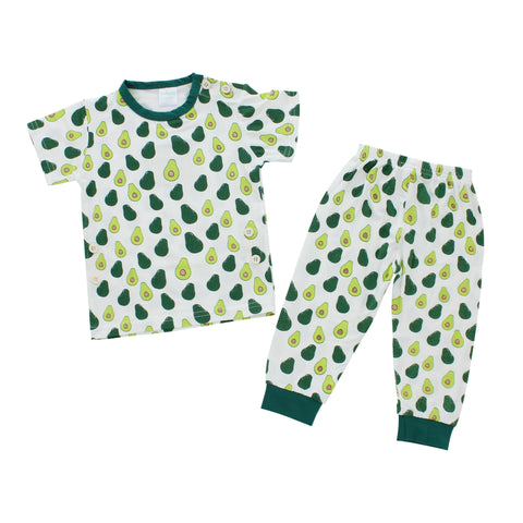Short Sleeves Pajama Set, Avocado