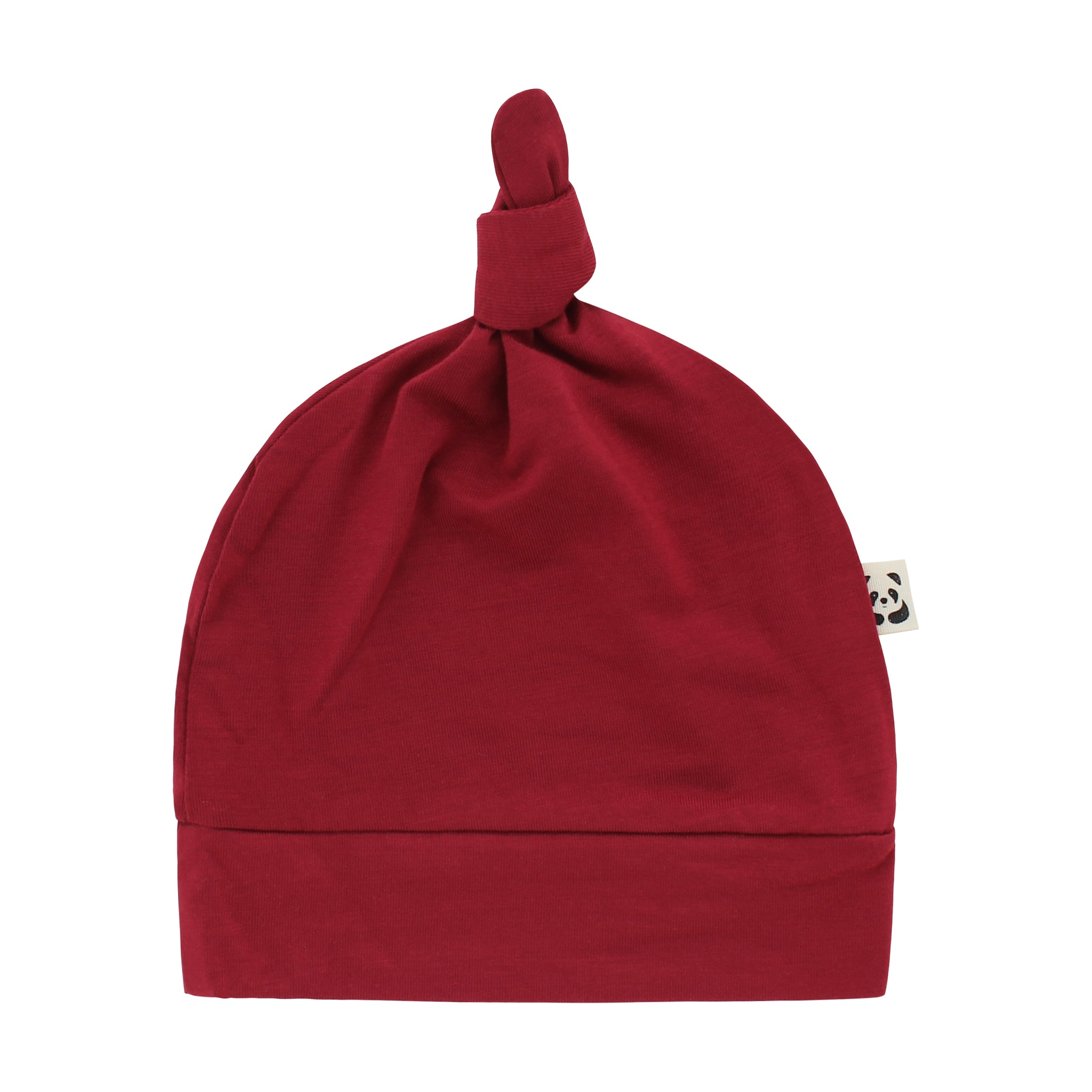Knotted Hat, Berry Red