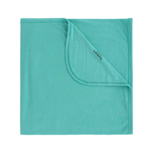 Bamboo Stretch Swaddle, Aqua Splash