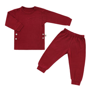 Pajama Set, Berry Red
