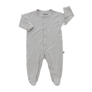 Footed Romper, Storm Grey