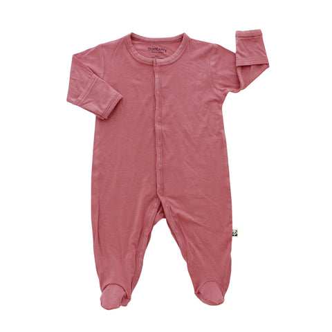 Footed Romper, Wild Rose