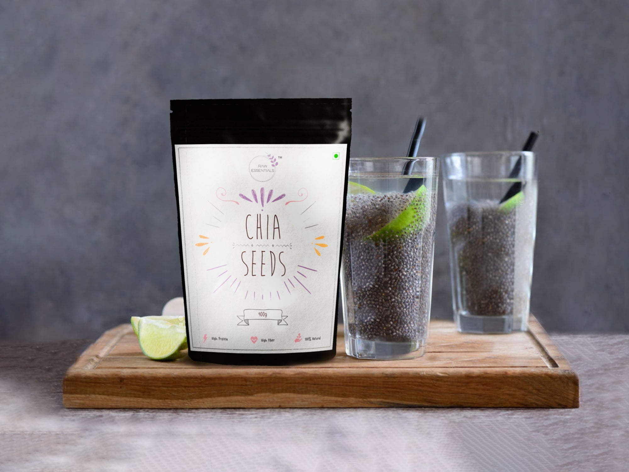 Raw Chia seeds 400g