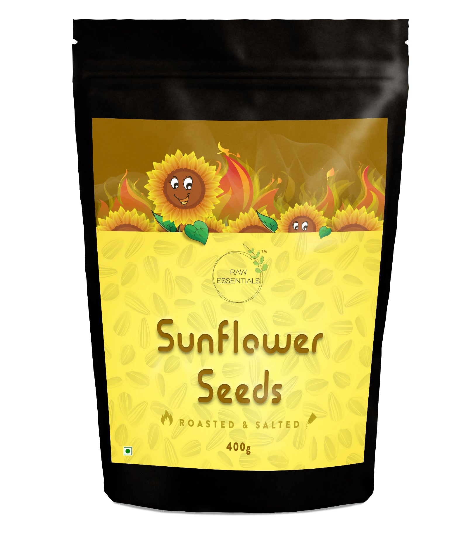 Raw Essentials Roasted & Salted Sunflower seeds 400g