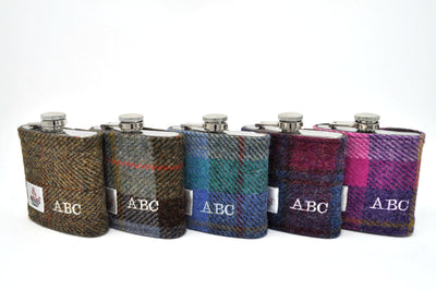 ABC embroidered samples in range of tweeds