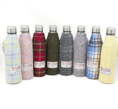 Harris Tweed Thermos Flask - 500ml - Blue