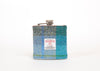 Harris Tweed Hip Flask - Blue Pattern