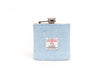 Harris Tweed Hip Flask - Pale Blue