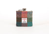 Harris Tweed Hip Flask - Orange and Green Pattern