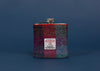 Harris Tweed Hip Flask - Red, Grey and Purple Pattern