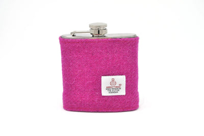 Harris Tweed Hip Flask Pink HT20 on its own