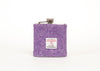 Harris Tweed Hip Flask - Purple Lilac Lavender