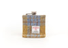 Harris Tweed Hip Flask - Mustard and Blue Pattern