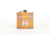 Harris Tweed Hip Flask - Yellow and Cream Pattern