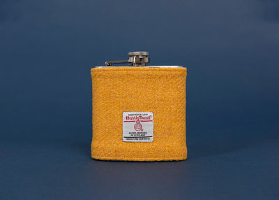 Harris Tweed Hip Flask - Sunshine Yellow