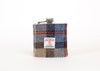 Harris Tweed Hip Flask McKenzie Tartan