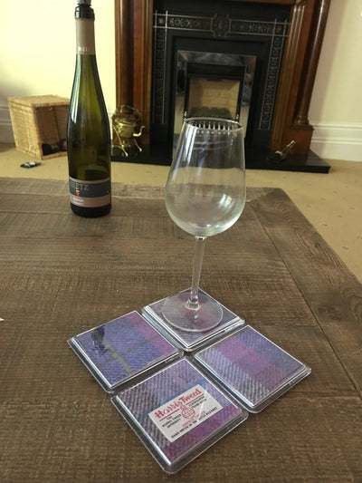 Personalised Harris Tweed Coasters