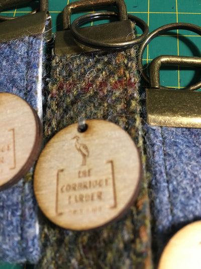 Personalised Harris Tweed Keyring