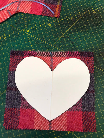 Sew your own Harris Tweed Lavender Heart craft Kit