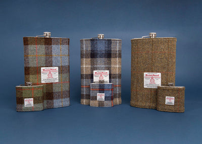 Gigantic Harris Tweed Hip Flask