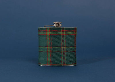 All Ireland Tartan Hip Flask