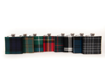 MacKenzie Anicient Tartan 6oz Hip Flask TRT06