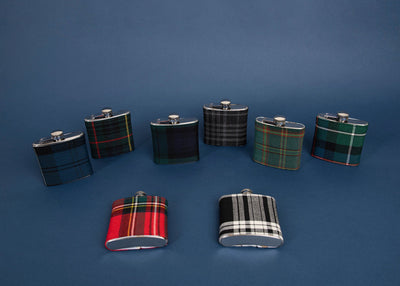Hebridean Cairn Tartan 6oz Hip Flask TRT02