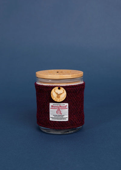Wild Fig & Cassis Soy Candle with Harris Tweed Sleeve
