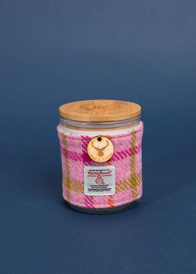Pear & Freesia Soy Candle with Harris Tweed Sleeve