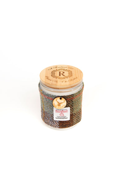 Malt Whisky Scented Soy Candle with Harris Tweed Sleeve