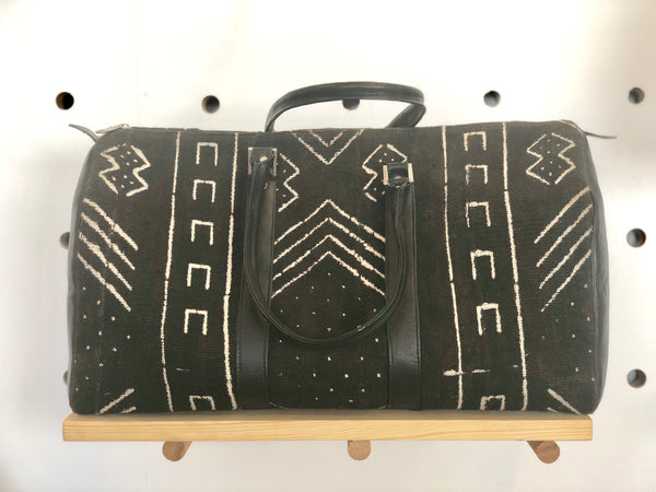Bogolan/Leather Travel Bag