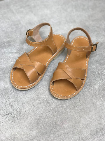 Cognac Leather Sandals