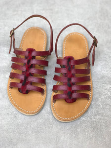 Bordeaux Gladiator Sandals