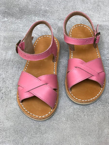 Blush Pink Leather Sandals