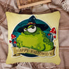 Happy Halloween Magic Frog Throw Pillow