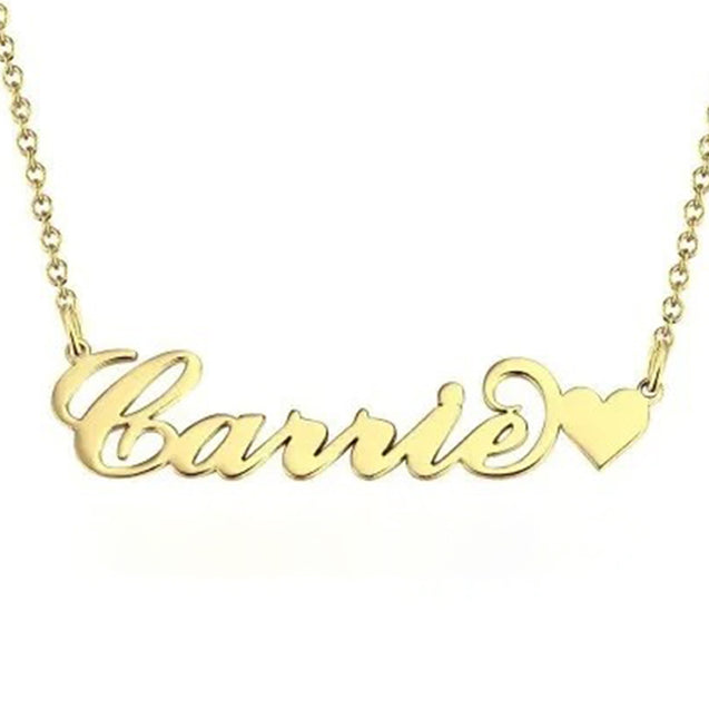 Custom Name Necklace Gold Personalized Name Chain