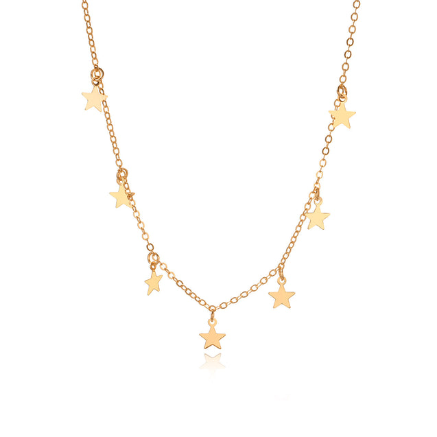 Star Choker Necklace Women Chocker Gold Chain Gifts for Friend