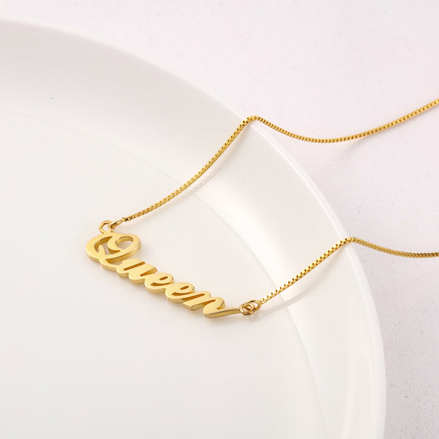 Classic Name Necklace Gold Gift For Friends