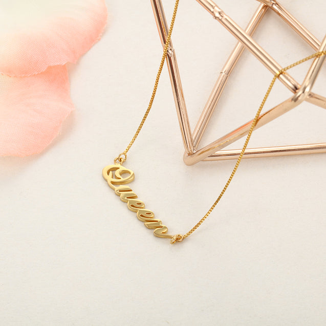 Classic Name Necklace Gold Best Gift For Daughter