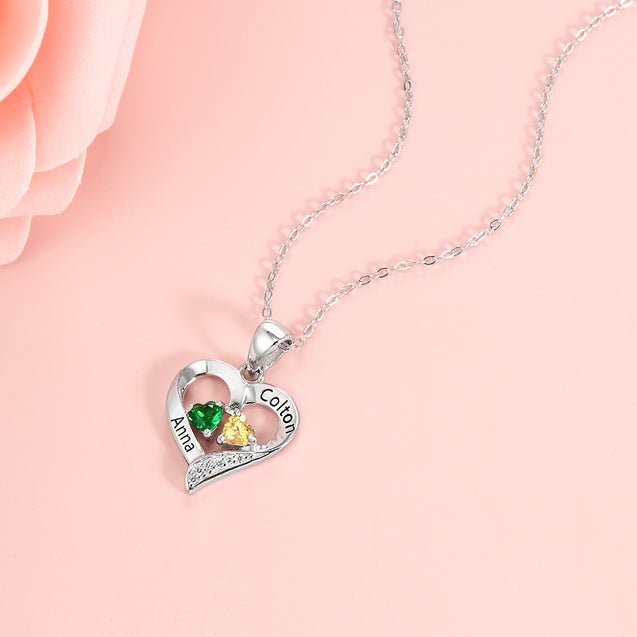 love birthstone necklace gift for women