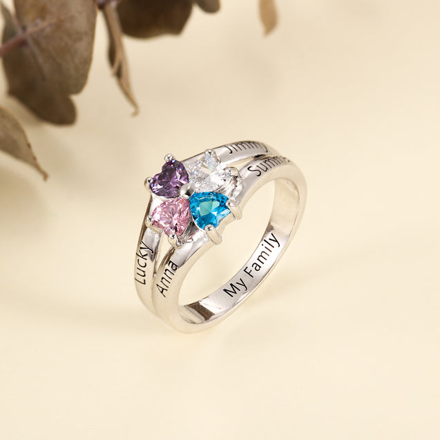 family birthstone ring gift for grandmother