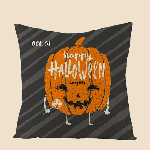 Happy Halloween Trick or Treat Throw Pillow