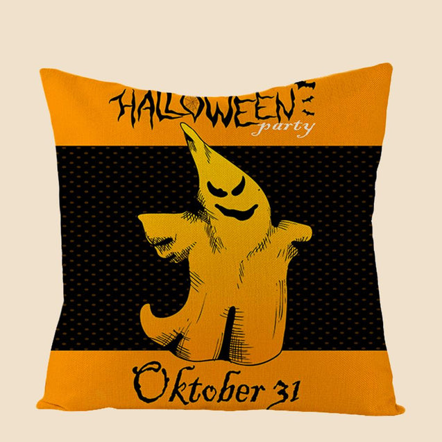 Happy Halloween Ghost Throw Pillow